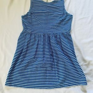 J. Crew Dresses - J.Crew Blue Striped Sheath Dress Size XXL